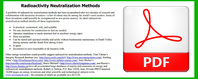 Radioactivity Neutralization Methods with PDF logo