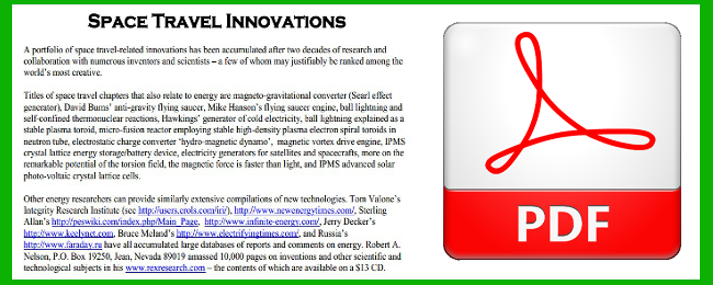 Space Travel Innovations with PDF logo